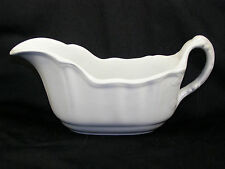 Antique J&G Meakin Ironstone Flat Gravy Boat - Molded Design Handle