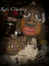 Primitive Black folk art doll and baby Siddalee and Teensie PAPER PATTERN #144