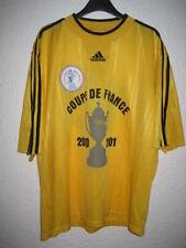 Maillot porté COUPE de FRANCE 2001 Adidas jaune collector n°10