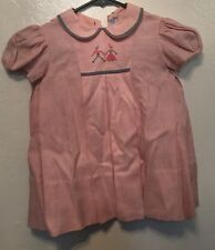 VINTAGE Sylvia Whyte Baby GIRL'S Pink Dress SIZE: 12 Mo FREE SHIPPING