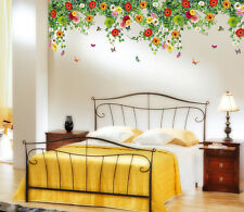 Wall Stickers Bed Room Backdrop Hanging Realistic Daisy Flowers Ceiling Border