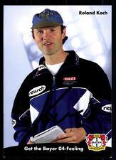 Roland Koch  Autogrammkarte Bayer Leverkusen 1998-99 Original Sign+A 97957