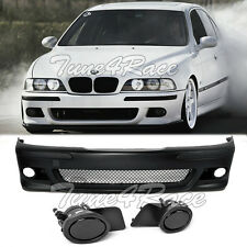 97-03 BMW E39 5-Series M5 Style Front Bumper & Smoke Fog Lights & Covers New ADN