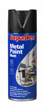 Supadec Metal Pintura En Spray 400 Ml Negro Mate