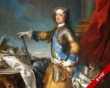 LOUIS XV BELOVED KING OF FRANCE IN ARMOR PAINTING HISTORY ART REAL CANVAS PRINT