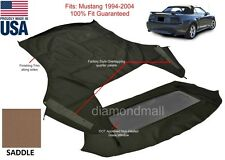 Ford Mustang Convertible Top & Non-Heated Glass Window SADDLE Sailcloth 1994-04
