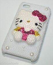 Hello Kitty Pearl Case With Screen Protector For Apple iPhone 4 4S