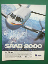 5/95 PUB SAAB AIRCRAFT AVION SAAB 2000 DEUTSCHE BA AIRLINE CHATEAU GERMAN AD