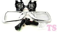 SET KIT SPOT LIGHT FOG LAMP CHROME FOR NISSAN NAVARA NP300 D23 2015 2WD 4WD