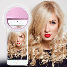 Pink Selfie 36 LED Ring Flash Fill Light Clip Camera For Iphone HTC Samsung LG