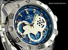 Invicta 48mm ProDiver SCUBA 3.0 Quartz Chronograph Blue Dial Silver SS Watch