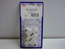 Sea-Dog 273271-1 white nylon hinge fitting slide combo Bimini top mount