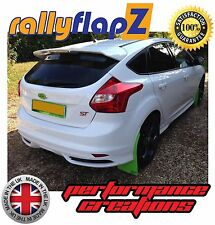 rallyflapZ FORD FOCUS ST Mk3 (2012+) Mud Flaps 'Ultimate Green' Polyurethane PU