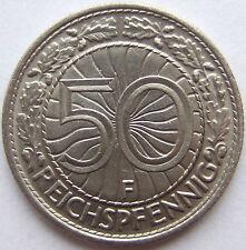 alto! 50 REICHSPFENNIG 1935 F in quasi FIOR CONIO RARI