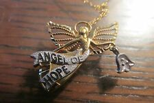ANGEL OF HOPE PENDANT CHARM & NECKLACE 10K YELLOW GOLD