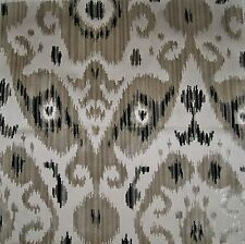 SCALAMANDRE TASHKENT IKAT CUT VELVET PILLOW QUILTER CRAFTS REMNANT BLACK BEIGE