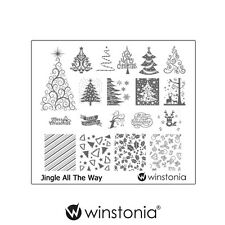Winstonia JINGLE ALL THE WAY Nail Art Stamp Stamping Image Plate Winter Holiday