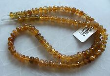 "15"" Strand Caramel Tourmaline Gemstone Faceted Rondelle Beads 5mm-5.5mm"