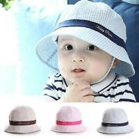 Summer Toddler Infant Baby Girl Boys Bucket Hat Beach Visor Cap Hat Sun Cap  D38