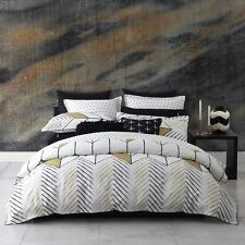 Logan and Mason RIO Gold Cotton Rich Double Bed Size Doona Duvet Quilt Cover Set