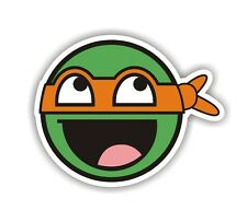 Teenage Mutant Ninja Turtle Face Car Van Stickers Decal Funny Sticker
