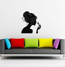 Wall Stickers Vinyl Decal Sexy Silhouette Girl Rose Flower (ig354)
