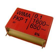 WIMA FKP1 Polypropylen Folien-Kondensator FKP 1 1600V 0,1uF 10% 37,5mm 024087