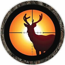 Deer Buck in Gun Sights Hunter Decal/Sticker Rifle Hunting GN6