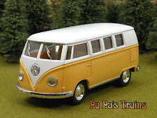 Die Cast Yellowish Orange 1962 VW Bus by Kinsmart Small G Scale 1:32 by Kinsmart