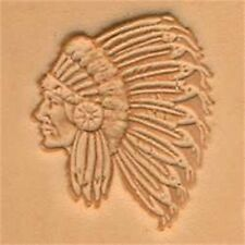 Indian Chief 3d Leather Stamping Tool - Craf Stamp Imprint Tandy 88429-00