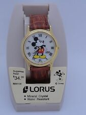 New Lorus Disney Mickey Mouse Unisex Watch Retro Rare Vintage Collectible Japan