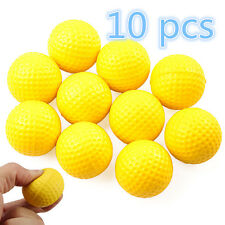 10pc Light Indoor Training Aid Practice Golf Sports Elastic PU Foam Balls Yellow