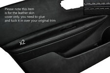 GREY STITCH 2X FRONT DOOR ARMREST SKIN COVERS FITS NISSAN QASHQAI 2007-2013