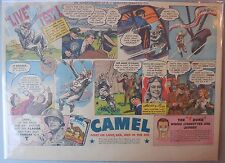 Camel Cigarette Ad: Female Nylon Parachute Tester ! Half or Tabloid Page