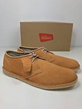 BNIB CLARKS ORIGINALS MENS JINK LOW DESERT BOOT SHOE PEACH SUEDE LEATHER UK 10
