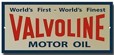 VALVOLINE MOTOR OIL ENAMELLED METAL SIGN.200MM X 95MM PREMIUM QUALITY SIGN.