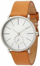 NWT NIB Skagen Men's SKW6215 'Hagen' Brown Leather Watch Silver Dial