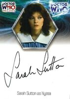 Dr Doctor Who 40th Anniversary Auto Card WA16 Sarah Sutton as Nyssa.