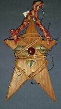 ORNAMENT wooden rustic bell grape vine STAR Christmas *** MORE IN OUR STORE