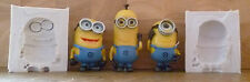 CHOOSE 1 MINION 3D TWO PIECE SILICONE MOULD FOR CAKE TOPPERS CHOCOLATE, CLAY ETC