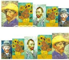 Nail Art Decals Transfers Stickers Van Gogh Sunflowers (A-1020)