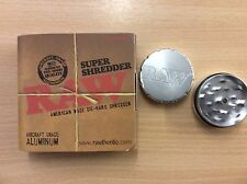 RAW Super Shredder 2 Part Grinder Rolling Papers Aircraft Grade Aluminium Herb