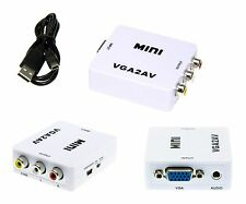 VGA AV Rca Mini PC en TV Convertidor Analógico CVBS Vídeo Mini-USB Cable