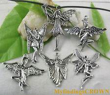 14pcs Tibetan silver Mixed lots of fairy charms W3694