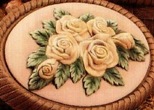 Ceramic Bisque 2 Dona's Wild Rose Insert Ready to Paint U Paint Flower