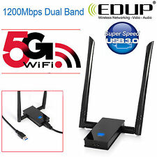 Adattatore di rete a 1200 Mbps Dual Band 802.11ac 2.4/5ghz PC USB 3.0 DONGLE WIFI LAN