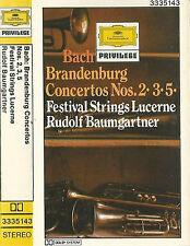 Bach Brandenburg Concertos Nos. 2  3  5 CASSETTE ALBUM Festival Strings Lucerne