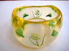 Pretty Vintage Clear Lucite Bracelet Bangle Armreif 50s Transparent Blumen _ 9