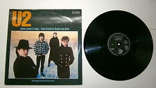 "U2 #33 Giri # 12"" -NEW YEAR'S DAY#TWO HEARTS BEAT AS ONE-Island Records 814948-1"