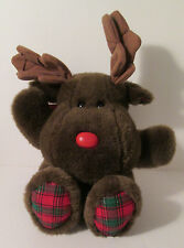 "1995 Happiness Always Express Christmas Moose Plush 20"" Holiday"